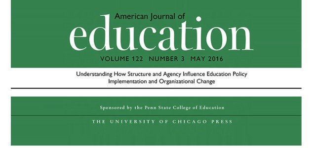 "It has been a pleasure to release the special issue in AJE called: ""Understanding How Structure and Agency Influence Education Policy Implementation and Organizational Change."" Thank you for reading the blog posts and engaging with the articles. As we mentioned […]"